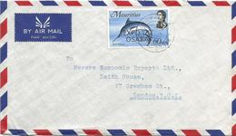 Mauritius 1970 Rose Bell Overprint Osaka Expo Blue Marlin Makaira Nigricans Fish Cover - 1970 – Osaka (Japan)