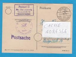 POSTAMT 2 , CHARLOTTENBURG. - Briefe U. Dokumente