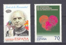 Spain 1998 - Derechos Humanos Ed 3606-07 (**) - 1931-Hoy: 2ª República - ... Juan Carlos I