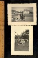 Photographie Originale : X2 Photos Automobiles Voiture Automobile SIMCA 8 à Saint St Vallier  1950 - Automobili