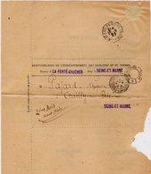TB 2348 - Lettre De La Direction ...des Domaines & Du Timbre Bureau De La FERTE - GAUCHER MP PARIS Imprimée Pour CHAILLY - Marcophilie (Lettres)