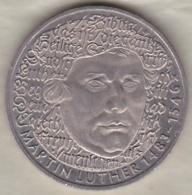 5 Mark 1988 G (Karlsruhe) Martin Luther , Cupro Nikel , KM# 159 - [ 7] 1949-… : RFD - Rep. Fed. Duitsland