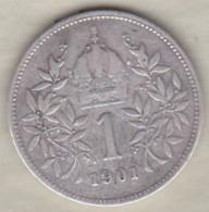 Autriche 1 Corona 1901 Franz Joseph I, En Argent KM# 2804 - Autriche