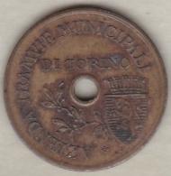 Jeton Tramway . Municipali Di Torino 1920 - Italy