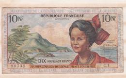Institut D'Emission Des Départements D'Outre-Mer. 10 Nouveaux Francs Guadeloupe Guyane Martinique - Autres