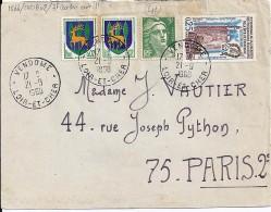41 - LOIR ET CHER - VENDOME -  1960 -  TàD DE TYPE A8 - Cachets Manuels
