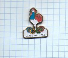 Pin's Pins / COQ FRANCAIS JEUX OLYMPIQUE, ATLANTA 1996 - Jeux Olympiques