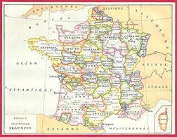 Carte De France Des Anciennes Provinces, Larousse 1908 - Autres