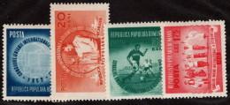 ROM SC #904-7 MNH 1952 International Student Union Congress CV $11.50 - Neufs