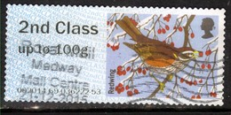 GB 2015 QE2 2nd Post & Go Redwing Bird Winter Fur & Feathers ( J715 ) - Great Britain