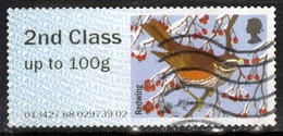 GB 2015 QE2 2nd Post & Go Redwing Bird Winter Fur & Feathers ( K320 ) - Great Britain