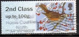 GB 2015 QE2 2nd Post & Go Redwing Bird Winter Fur & Feathers ( M22 ) - Great Britain