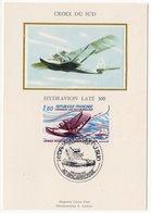 Carte Maximum 1982-  Hydravion Late 300 - Croix Du Sud YT Poste Aérienne 56 Du 04/12/1982 - 40 Biscarosse (A0060) - 1980-89
