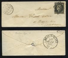 Envelop France 1849-50 Emission Cérès Non Dentelé 20c Noir S.blanc No3a-Envoyé De Pantin à Bray Sur Seine En 27-06-1849 - 1849-1850 Cérès