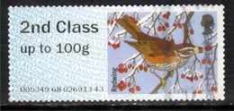 GB 2015 QE2 2nd Post & Go Redwing Bird Winter Fur & Feathers ( L950 ) - Great Britain