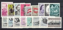 Österreich / Austria 1963, Complete Year, Komplette Jahrausgabe **, MNH - 1945-.... 2. Republik
