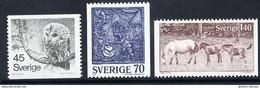 SWEDEN 1977 Definitive: Nature And Handicrafts Set MNH / **.  Michel 991-93 - Sweden