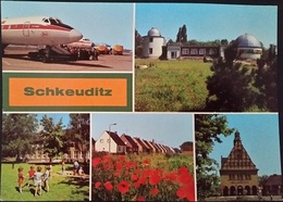 Ak DDR - Schkeuditz - Stadtansichten - Flughafen - Planetarium - Schkeuditz