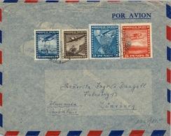 1952 CHILE , SOBRE CIRCULADO POR AVION  , PUERTO MONTT - LÜNEBURG - Chile