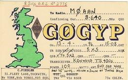 Amateur Radio QSL Card G0GYP Fielder Tockwith York GØGYP - Radio Amateur