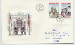 CZECHSLOVAKIA 1985 Prague Castle On  FDC.  Michel 2834-35 - FDC
