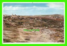 JERUSALEM, ISRAEL - BLICK VOM MUKABBER-BERGE IM SUDEN - UVACHROM A. G. - - Israel