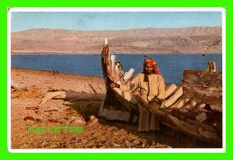 JERUSALEM, ISRAEL -ABENDSTIMMUNG AM TOTEN MEER - AMBIANCE DU SOIR DE LA MER MORTE, ANIMÉE - UVACHROM A. G. - - Israel