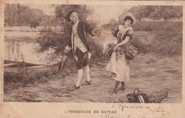 """""""PROMENADE EN BATEAU"""". B SIRVEN. CIRCULEE RIO SEGUNDO CIRCA 1905. ARISTOCRATIE ARGENTINE- BLEUP - Koppels"""