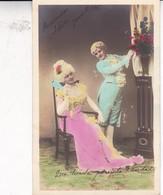 COUPLE VETEMENT D'EPOQUE AMOREUX ROMANTIQUE, COLORISE. VOYAGE CIRCA 1905. ARISTOCRATIE ARGENTINE- BLEUP - Koppels