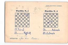16363 02  PARTITA A SCACCHI - MESSINA X MILANO  - CHESS - Scacchi