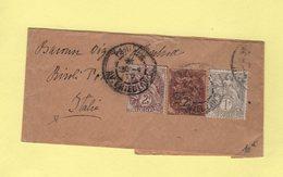 Type Blanc - Destination Italie - Entier Type Bande 2c Avec Complement - 1877-1920: Période Semi Moderne