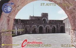 St. Kitts & Nevis, STK-3C, Brimstone Hill Fortress, Mint, 3CSKC, 2 Scans. - St. Kitts En Nevis