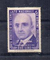 Italia - ETICHETTA - ERINNOFILO - 1945 - Pro Vittime Politiche - P. MARTINI - Linguellato - (FDC11700) - Erinnofilia