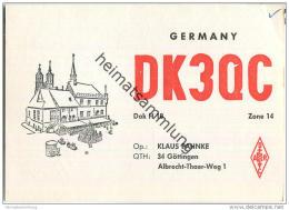 QSL - QTH - Funkkarte - DK3QC - Göttingen - 1969 - Pin-Ups