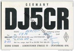 QSL - QTH - Funkkarte - DJ5CR - Lichtenberg (Oberfranken) - 1976 - Pin-Ups