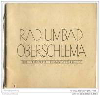 Radiumbad Oberschlema 1928 - 24 Seiten Mit 11 Abbildungen - Saxe