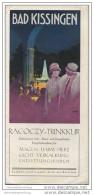 Bad Kissingen 1928 - Racoczy-Trinkkur - Titelbild Signiert Richard Friese - Faltblatt Mit 9 Abbildungen - Brandenburg