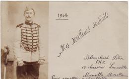 54 LUNEVILLE MES MEILLEURS VOEUX 1903 **Blanchard Félix PHR 17° Chasseur Luneville** - Luneville