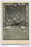 Skorpion 24.10. Bis 22.11. - Sternbildkarte - Horoskop - Rückseite Beschreibung Der Eigenschaften - Astronomie
