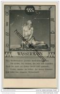Wassermann 21.01. Bis 19.02. - Sternbildkarte - Horoskop - Rückseite Beschreibung Der Eigenschaften - Astronomie
