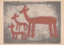 Postcard Rock Art Bohuslan Gotaland Sweden Rock Carvings Bohuslans Hallristningar Deer My Ref  B22919 - Ancient World