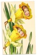 102 - Tête D'enfants Dans Des Narcisses - Children's Drawings