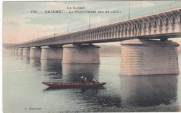 F45-026 BRIARE - LE PONT CANAL VU DE CÔTE - Briare