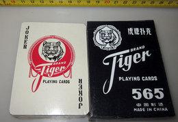 CARTE DA GIOCO VINTAGE TIGER 90 X 65 MM. - 54 Cards