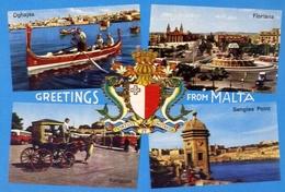 Greetings From Malta - Formato Grande Non Viaggiata – E 7 - Malta