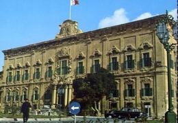 Malta - Veletta - Auberge De Castille - Formato Grande Non Viaggiata – E 7 - Malta