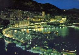 Principato De Monaco - Vue De Nuit Sur Le Port - Formato Grande Viaggiata – E 7 - Monaco