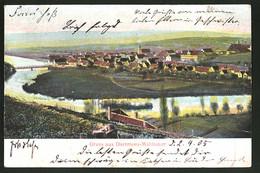 Relief-AK Dürrmenz-Mühlacker, Panoramablick Auf Die Ortschaft - Ansichtskarten