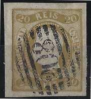 PORTUGAL Don Luis N°20 Bistre Oblitéré GC 208  Belles Marges  Tres Frais... - 1862-1884: D. Luiz I.