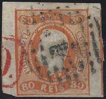 PORTUGAL Don Luis N°23 Orange Oblitéré GC 1 Marges énormes Voisins... - 1862-1884: D. Luiz I.
